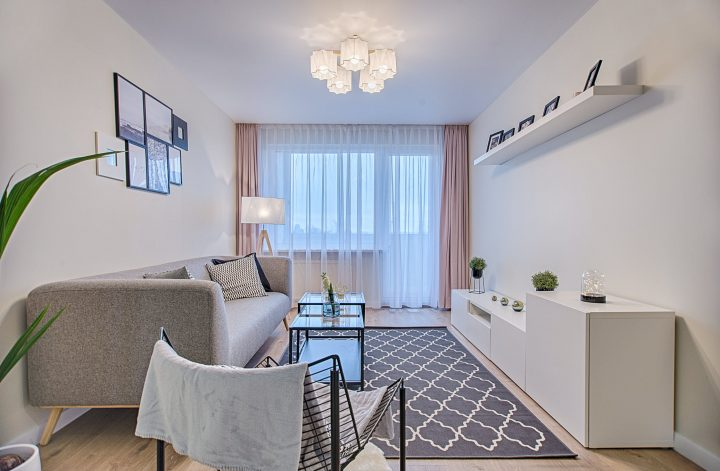 Living area with curtains in Adelaide